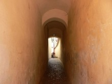 Strada Sforii: the narrowest street in Europe