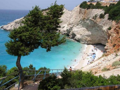 Cliff  Beach Porto Katsiki Greece