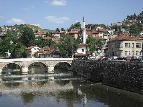 Miljacka River  Sarajevo Bosnia