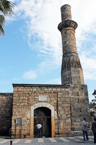 Mosque with a truncated minaret Antalya Turkey