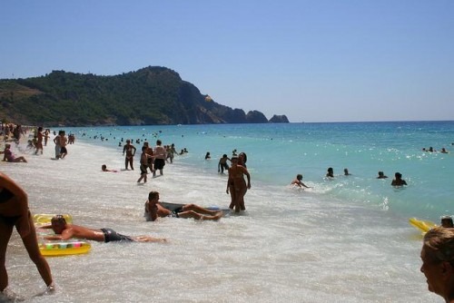 Beach in Alanya Turkey