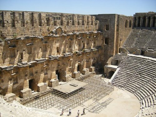 Roman theater of Aspendos Antalya Turkey