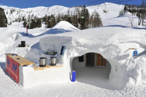 Igloo village of Krvavec